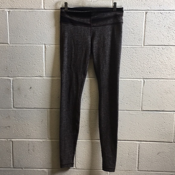 8f3fe025a6 lululemon athletica Pants - Lululemon brown& gray herringbone full legging  sz8